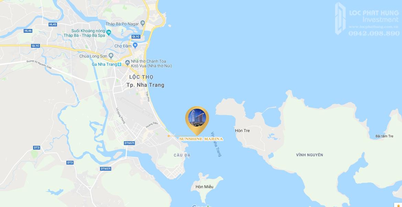 Vị trí địa chỉ dự án căn hộ condosuites Sunshine Marina Nha Trang Khánh Hòa