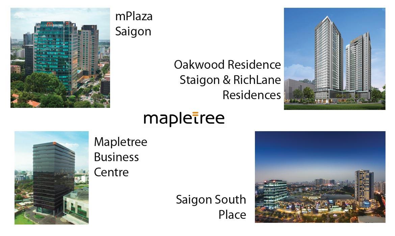 Các dự án tại Việt Nam của Chủ đầu Mapletree