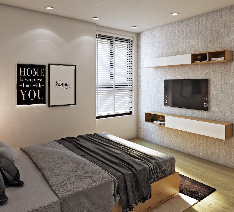 Thiết kế phòng ngủ nhà mẫu Bcons Garden, chủ đầu tư Bcons. Liên hệ xem nhà mẫu: 0938.322.111