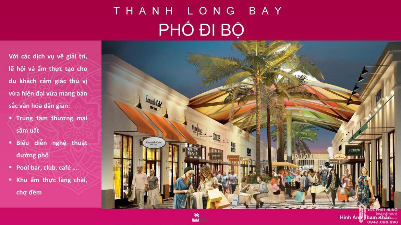 Tiện ích phố đi bộ dự án condotel, nhà phố, biệt thự biển Thanh Long Bay Bình Thuận