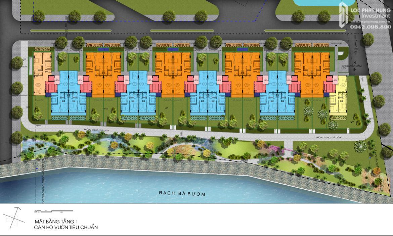 Mặt bằng 1 hầm Block K dự án căn hộ chung cư Panomax River Villa Quận 7 Đường Đào Trí chủ đầu tư TTC LAND