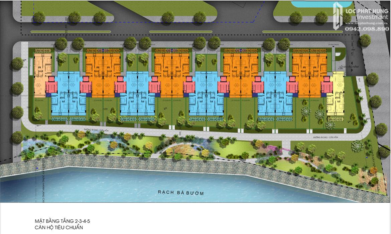 Mặt bằng 2,3,4,5 hầm Block K dự án căn hộ chung cư Panomax River Villa Quận 7 Đường Đào Trí chủ đầu tư TTC LAND