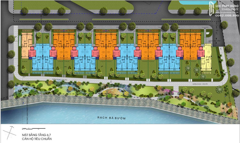 Mặt bằng 6,7 hầm Block K dự án căn hộ chung cư Panomax River Villa Quận 7 Đường Đào Trí chủ đầu tư TTC LAND