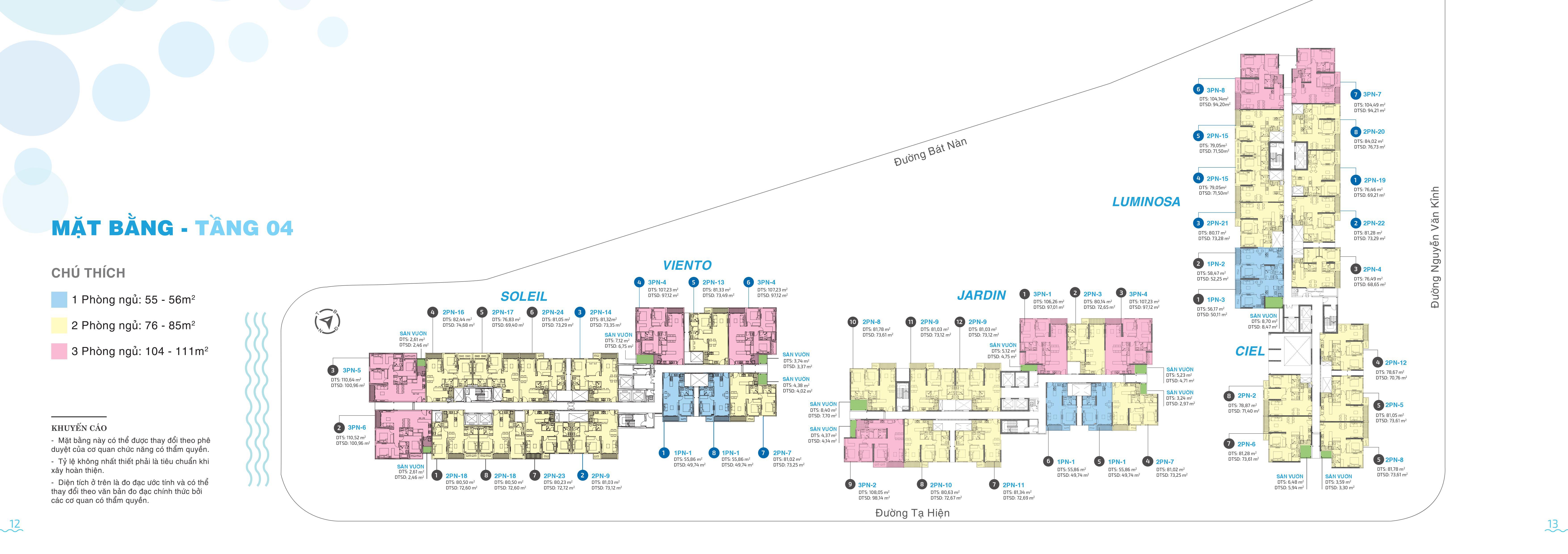Mặt bằng dự án căn hộ chung cư One Verandah Quận 2 Đường Bát Nàn chủ đầu tư Mapletree