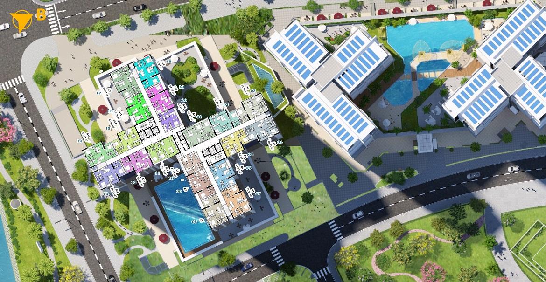 Mặt bằng thiết kế căn hộ Eco Green Sài Gòn Quận 7 Block M2