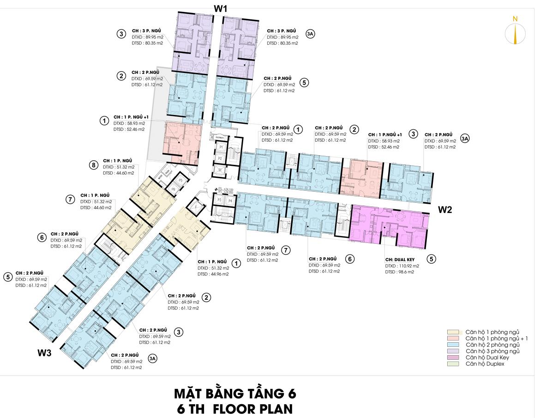 Mặt bằng thiết kế căn hộ D-Homme đường Hồng Bàng Quận 6 - Tầng 06– Liên hệ0942.098.890 -0973.098.890Nhận mua bán ký gửi + Cho thuê + Xem thực tế dự án.