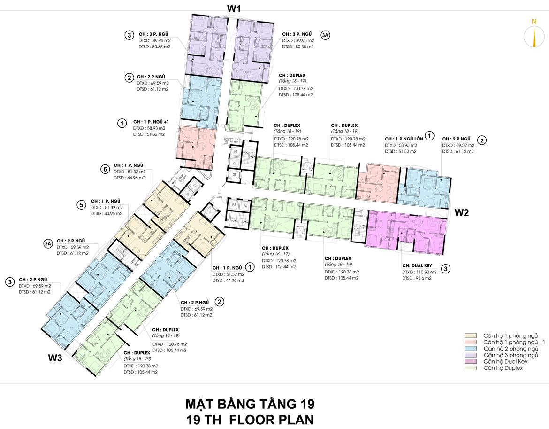 Mặt bằng thiết kế căn hộ D-Homme đường Hồng Bàng Quận 6 - Tầng 19– Liên hệ0942.098.890 -0973.098.890Nhận mua bán ký gửi + Cho thuê + Xem thực tế dự án.