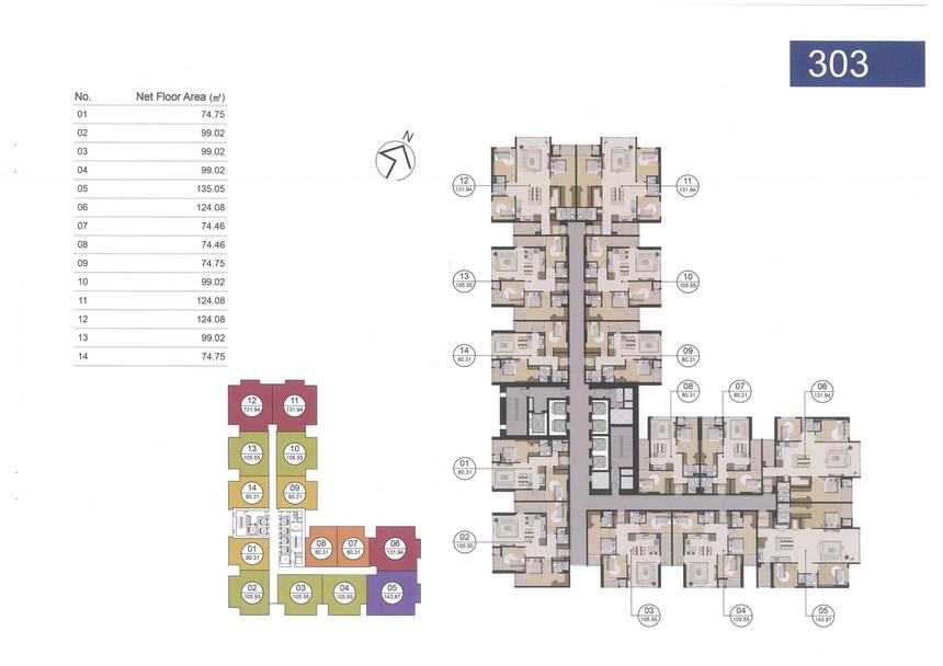 Giá bán căn hộ Laimian City 2 PN