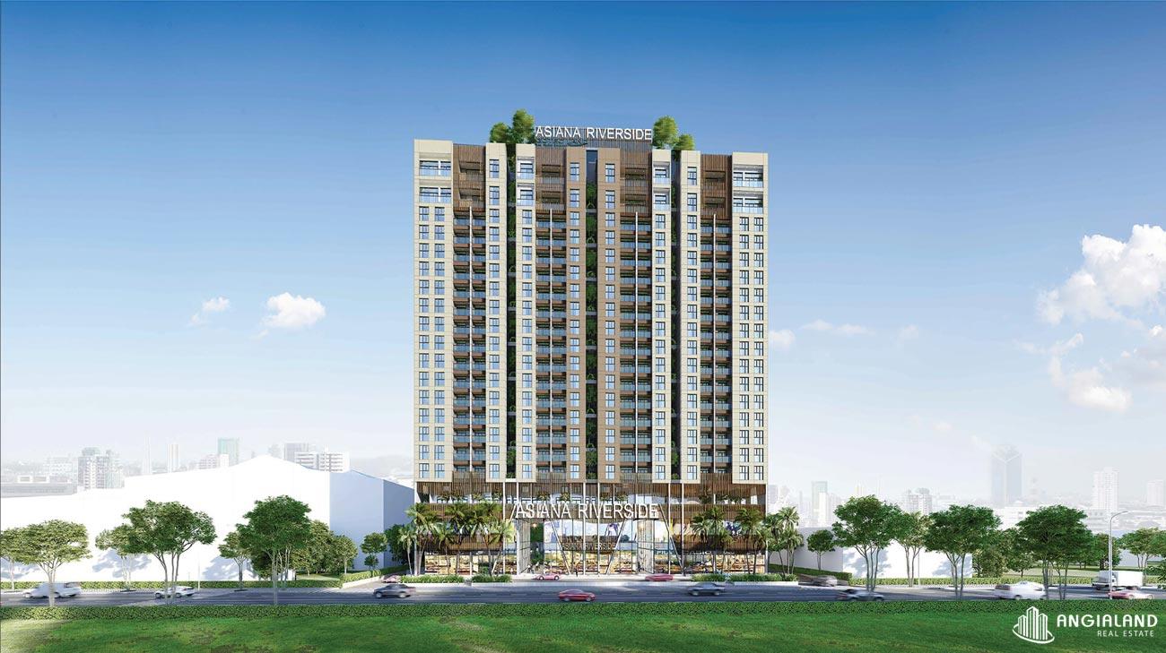 Mặt tiền dự án căn hộ chung cư Asiana Riverside Quận 7