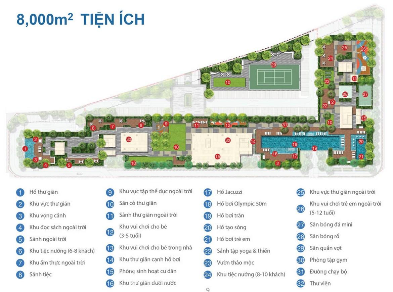 Tiện ích dự án căn hộ chung cư One Verandah Quận 2 Đường Bát Nàn chủ đầu tư Mapletree