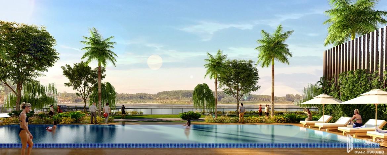 Tiện ích hồ bơi nội khu dự án căn hộ Panomax River Villa đường Đào Trí Quận 7