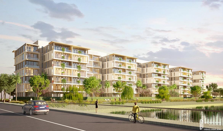 Phối cảnh tổng thể dự án căn hộ chung cư Panomax River Villa Quận 7 Đường Đào Trí chủ đầu tư TTC LAND từ cầu Bà Bướm.
