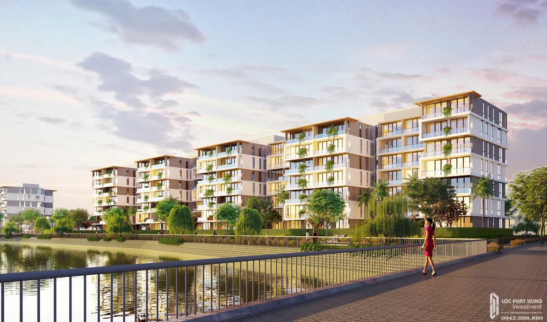 Phối cảnh tổng thể dự án căn hộ chung cư Sky X Quận 7 Đường Đào Trí chủ đầu tư TTC LAND từ cầu Bà Bướm.