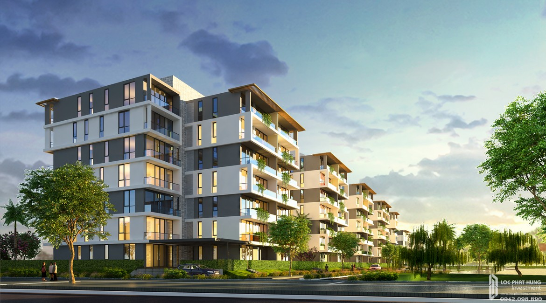 Phối cảnh tổng thể dự án căn hộ chung cư Sky X Quận 7 Đường Đào Trí chủ đầu tư TTC LAND từ công viên nội khu.
