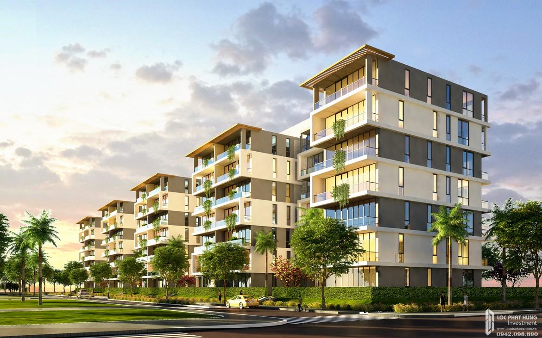 Phối cảnh tổng thể dự án căn hộ chung cư Panomax River Villa Quận 7 Đường Đào Trí chủ đầu tư TTC LAND từ công viên nội khu.