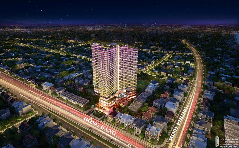 Phối cảnh dự án căn hộ chung cư D Homme Quận 6 ban đêm