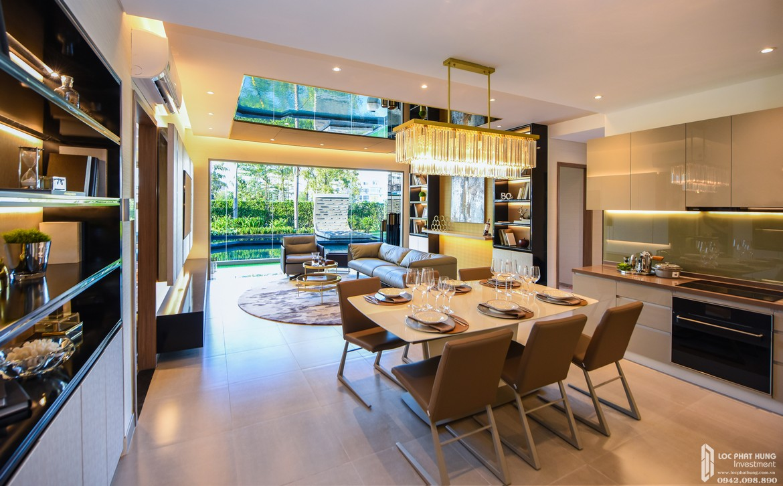 Thiết kế phòng khách nhà mẫu dự án căn hộ chung cư Laimian City Quận 2 Đường Lương Đình Của chủ đầu tư HDTC - Hỗ trợ xem nhà mẫu 0942.098.890