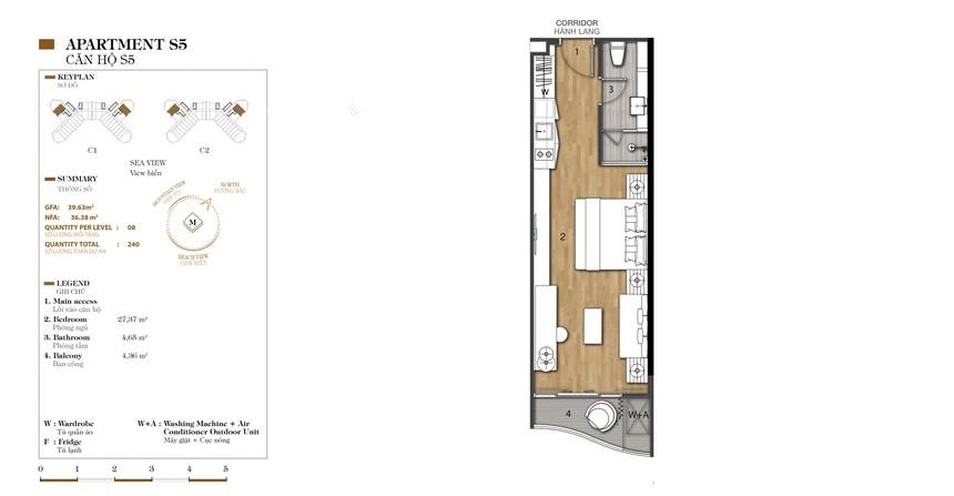 Mặt bằng thiết kế dự án condotel Crystal Marina Bay Nha Trang Đường Phạm Văn Đồng chủ đầu tư Crystal Bay