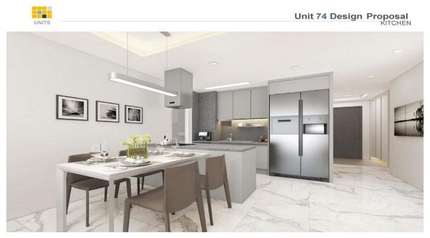 Nội thất diện tích 72m2, 99m2 dự án căn hộ chung cư Laimian City Quận 2 Đường Lương Đình Của chủ đầu tư HDTC