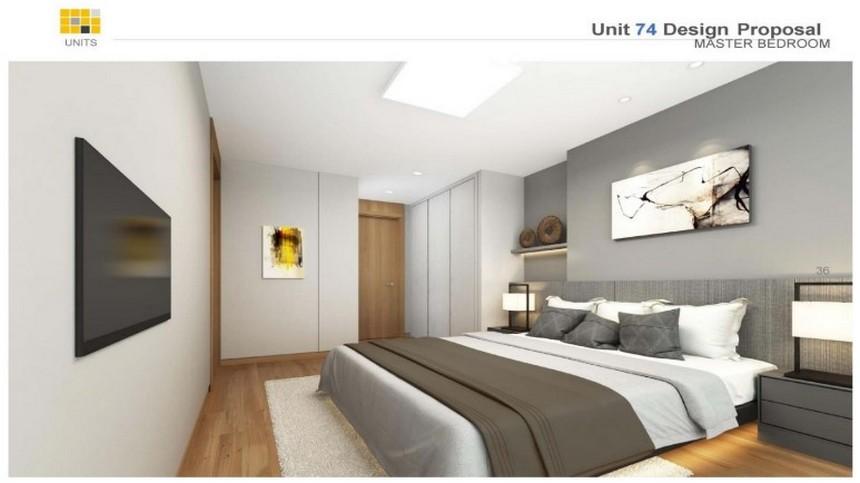 Nội thất diện tích 72m2 dự án căn hộ chung cư Laimian City Quận 2 Đường Lương Đình Của chủ đầu tư HDTC