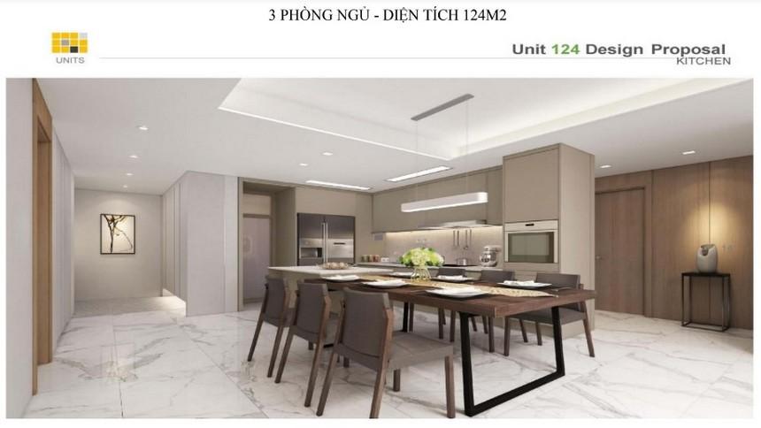 Nội thất diện tích 124m2, 135m2 dự án căn hộ chung cư Laimian City Quận 2 Đường Lương Đình Của chủ đầu tư HDTC