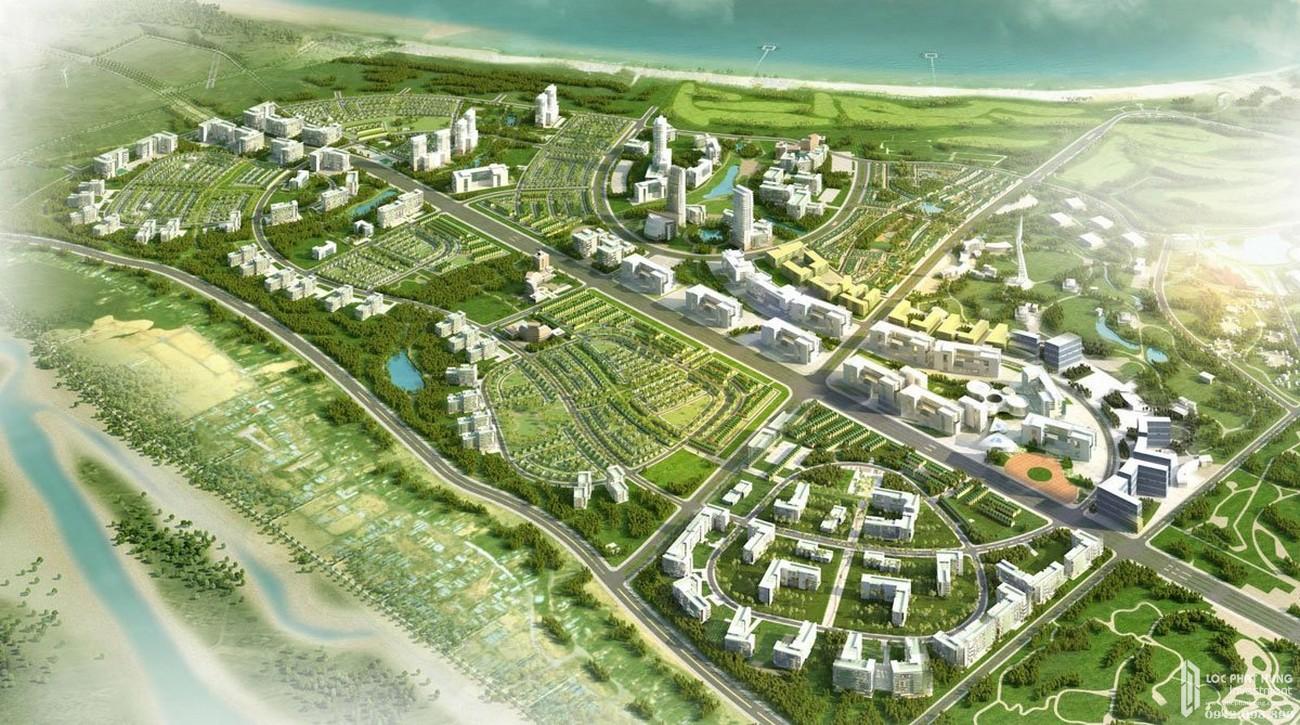 Phối cảnh tổng thể dự án đất nền Fenix City Châu Thành Đường Nam Sông Hậu