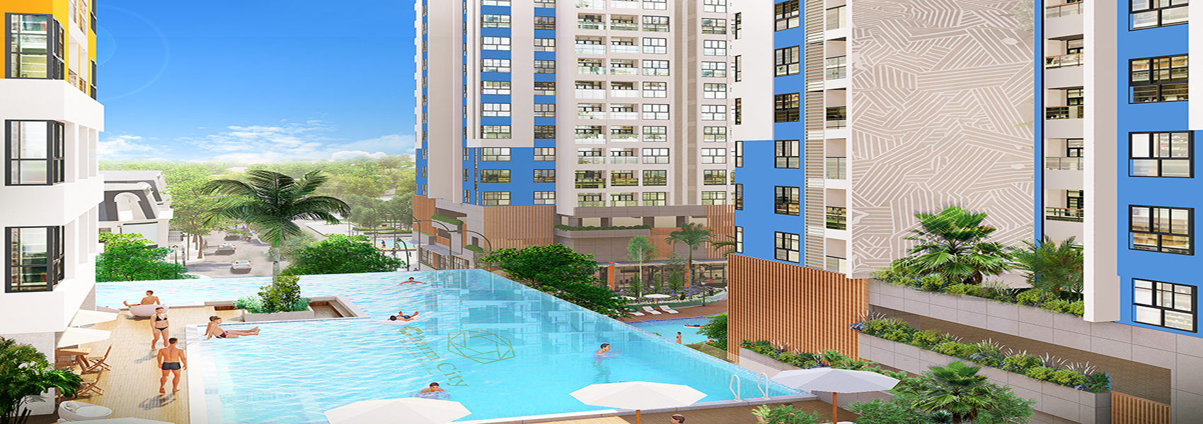 Phối cảnh dự án căn hộ chung cư Charm City Dĩ An Bình Dương chủ đâu tư DCT group