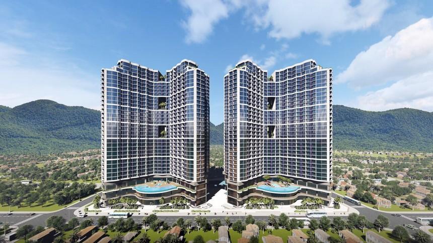 phối cảnh dự án condotel Crystal Marina Bay Nha Trang Đường Phạm Văn Đồng chủ đầu tư Crystal Bay