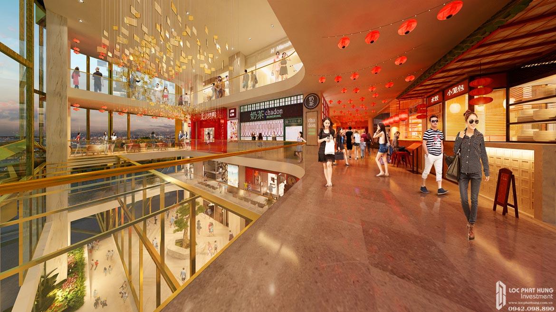 Thiết kế bên trong trung tâm thương mại dự án căn hộ chung cư D Homme Quận 6 Đường Hồng Bàng chủ đầu tư DHA