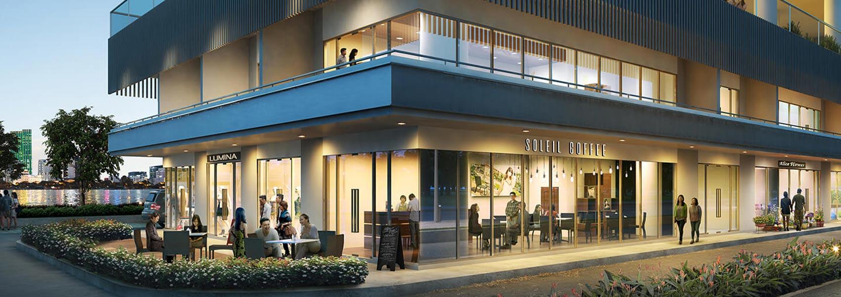 Shophouse dự án căn hộ chung cư One Verandah Quận 2 Đường Bát Nàn chủ đầu tư Mapletree
