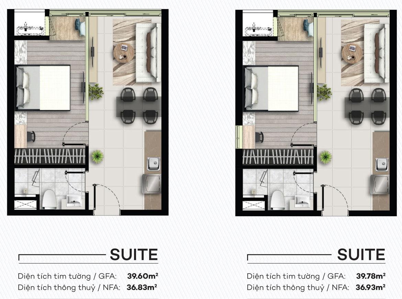 Thiết kế chi tiết căn hộ condotel dự án The Sóng Vũng Tàu đường Thi Sách