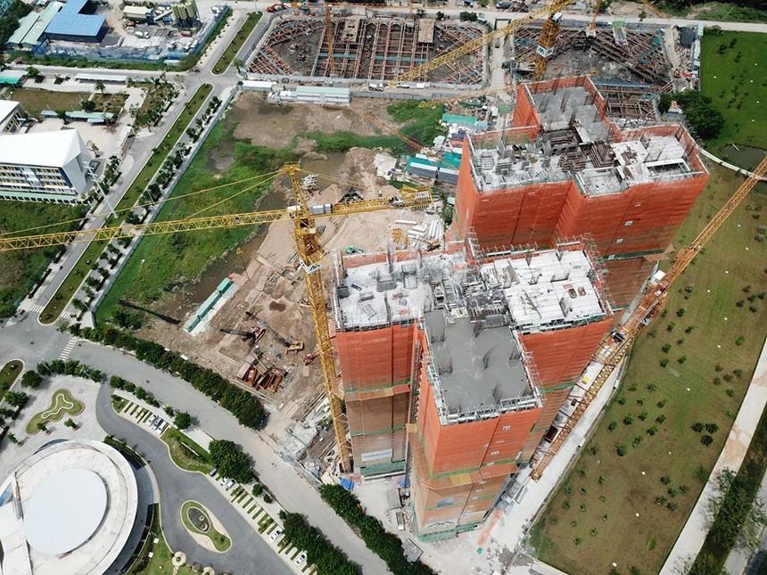 Tiến độ dự án căn hộ chung cư Eco Green Sài Gòn ngày 12/06/2019
