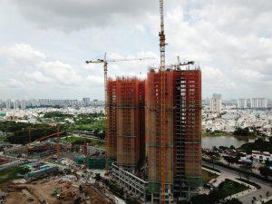 Tiến độ xây dựng dự án căn hộ chung cư Eco Green Saigon Quận 7 Tháng 7/2019