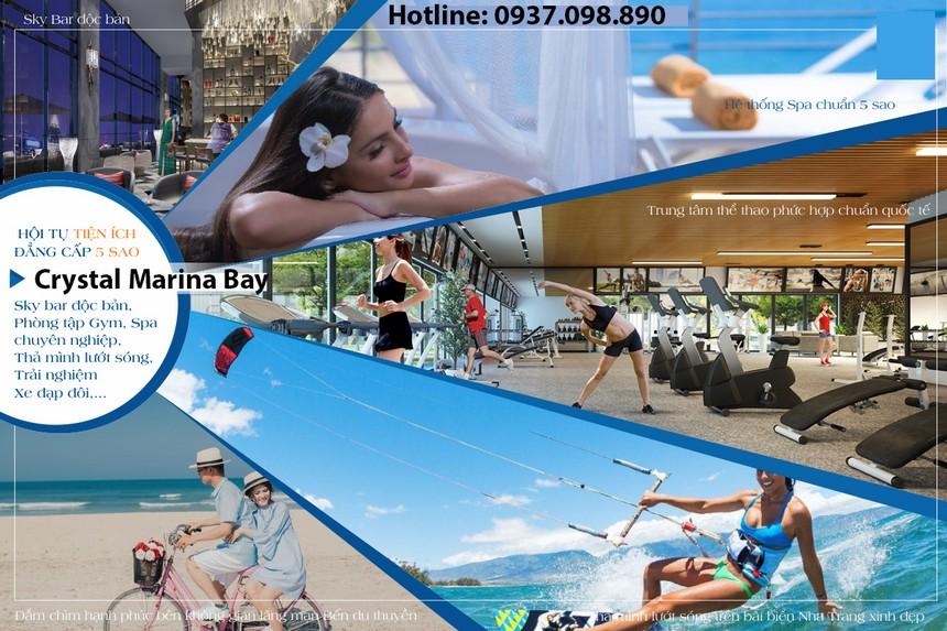 Tiện ích dự án condotel Crystal Marina Bay Nha Trang Đường Phạm Văn Đồng chủ đầu tư Crystal Bay