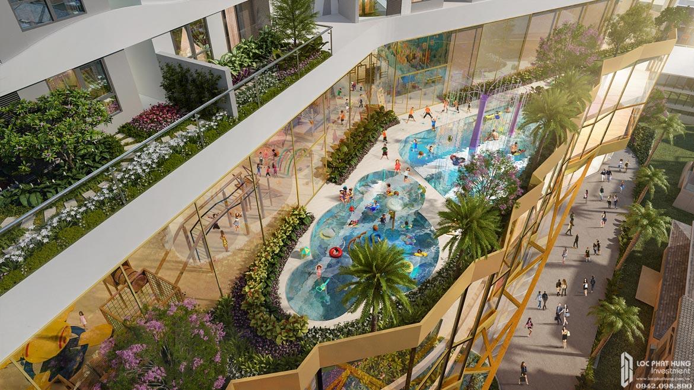 Tiện ích hồ bơi tầng 5 bên trong dự án căn hộ chung cư D Homme Quận 6 Đường Hồng Bàng chủ đầu tư DHA