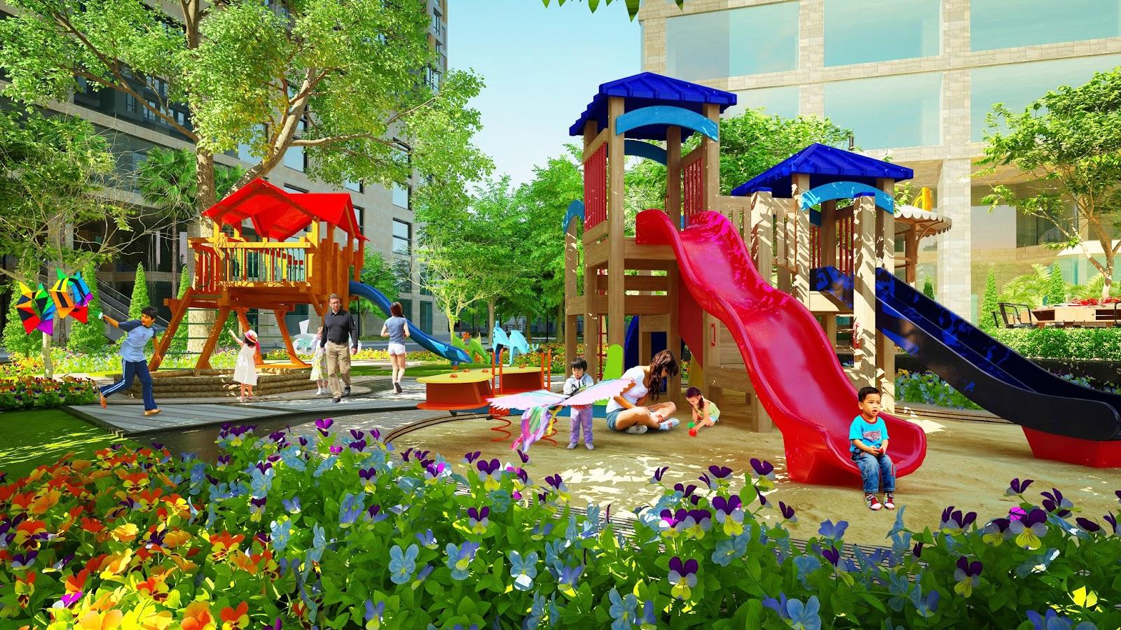 Khu vui chơi trẻ em tại dư án Bcons Garden. Liên hệ xem thực tế dự án  theo Hotline: 0938322.111