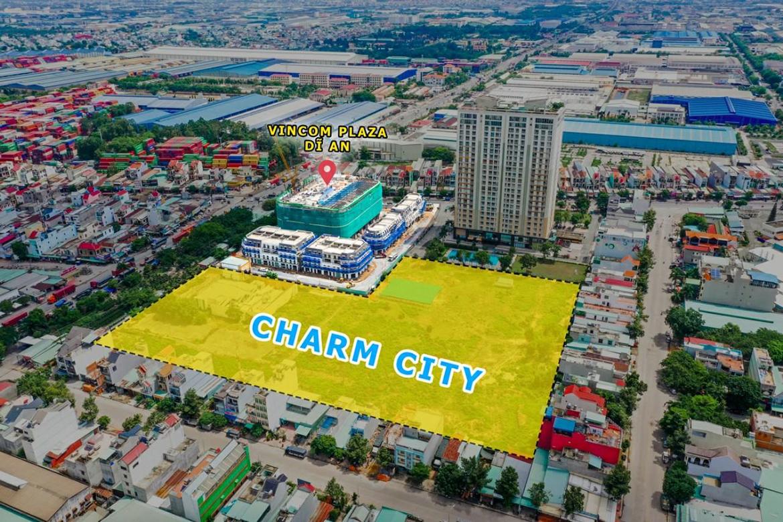 Vị trí địa chỉ dự án căn hộ chung cư Charm City Dĩ An Bình Dương