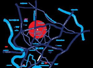 Tiềm năng đến từ vị trí dự án căn hộ Charm City Bình Dương