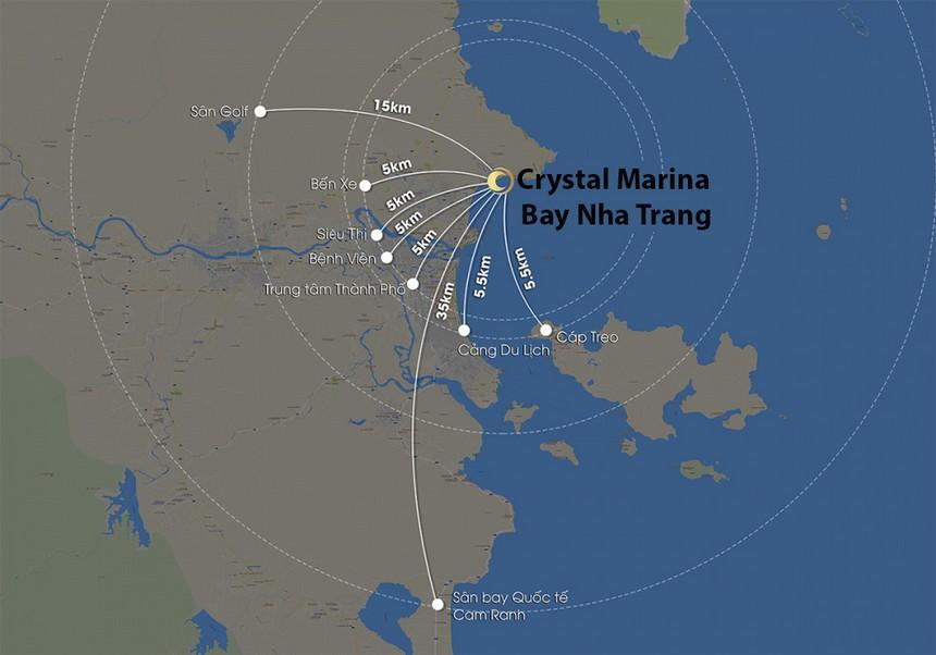 Vị trí địa chỉ dự án condotel Crystal Marina Bay Nha Trang Đường Phạm Văn Đồng chủ đầu tư Crystal Bay