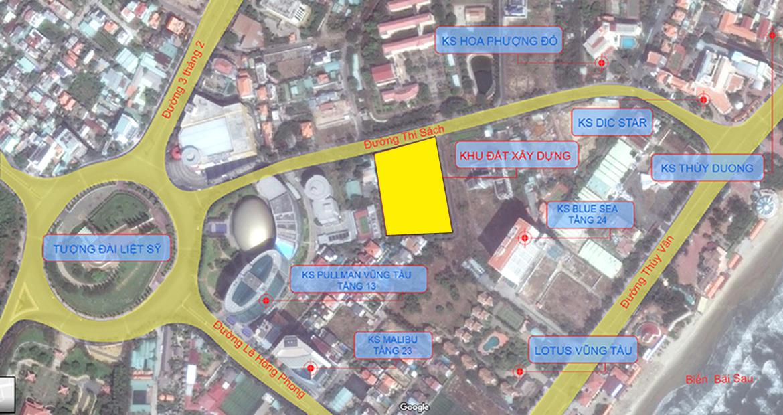 Vị trí địa chỉ dự án căn hộ condotel The Sóng Vũng Tàu Đường Thi Sách chủ đầu tư An Gia Investment
