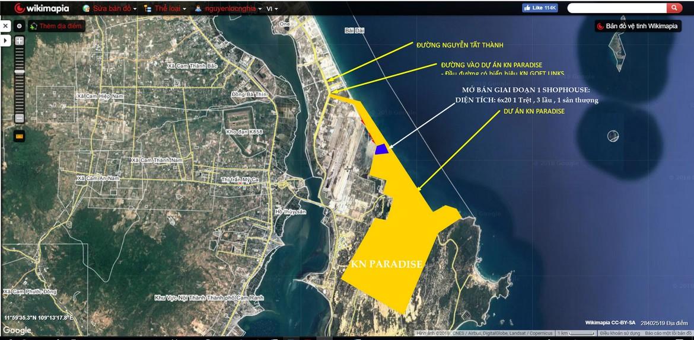 Vị trí địa chỉ nhà phố, biệt thự, shophouse, villa, condotel dự án KN Paradise Cam Ranh Khánh Hòa