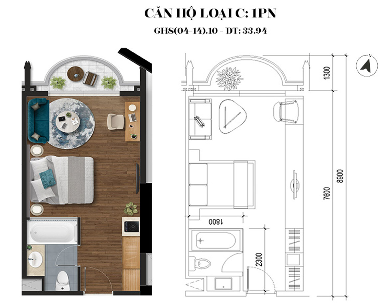 Thiết kế dự án căn hộ Condotel Oyster Gành Hào Đường 82 Trần Phú chủ đầu tư Vietpearl Group