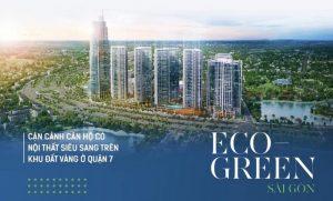 Bán căn hộ chung cư Eco Green Sài Gòn quận 7 Mã M23A13 Loại 2 PN 70.41m2 hướng về Công viên Hương Tràm