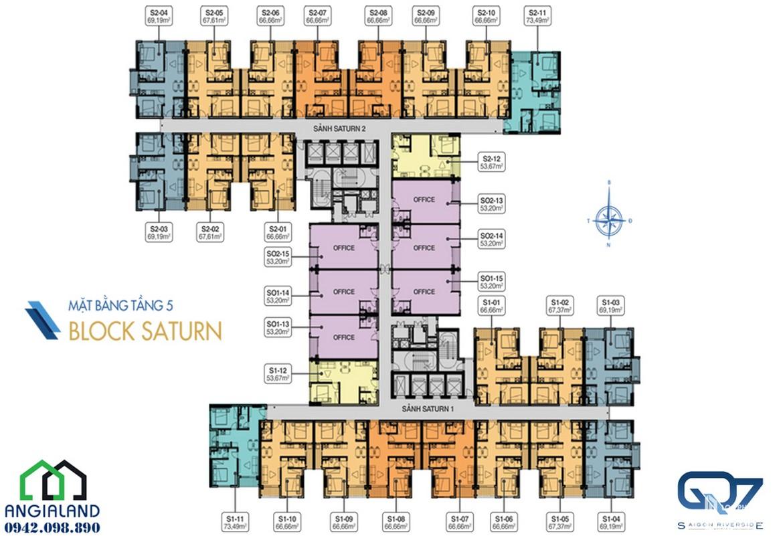 mat bang can ho Q7 Saigon Riverside Complex block saturn 05