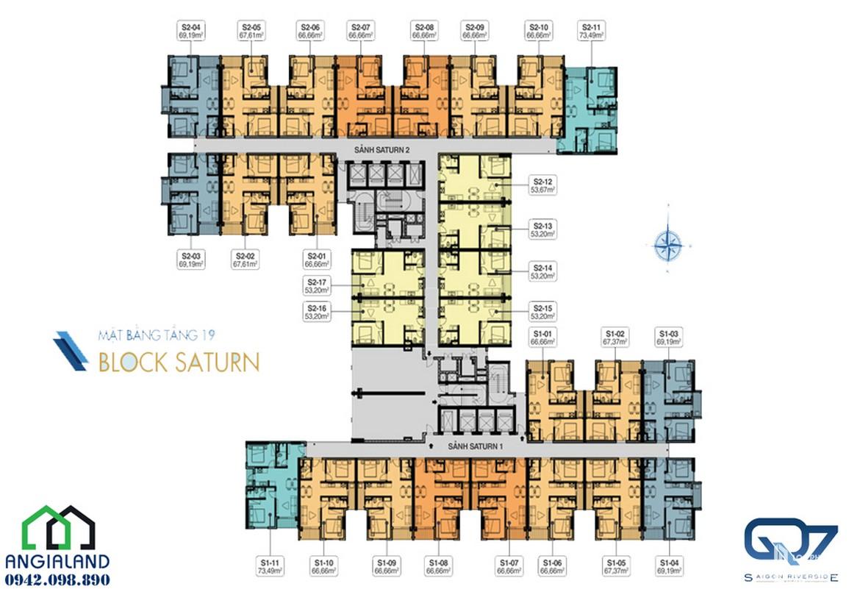 mat bang can ho Q7 Saigon Riverside Complex block saturn 19