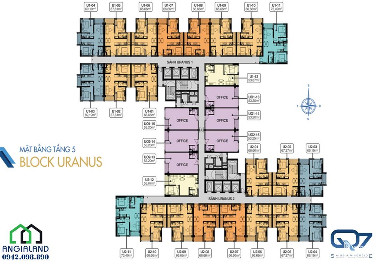mat bang can ho Q7 Saigon Riverside Complex block uranus 05