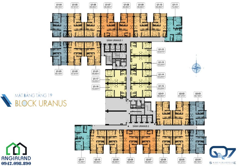 mat bang can ho Q7 Saigon Riverside Complex block uranus 19