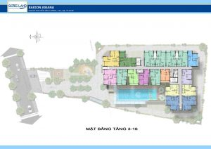 Thiết kế tầng 8-16 dự án căn hộ Saigon Asiana Quận 6 đường Nguyễn Văn Luông Quận 6
