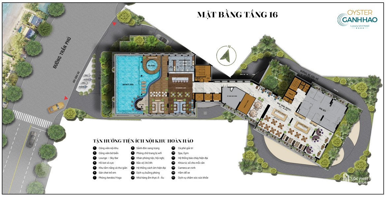 Mặt bằng dự án căn hộ Condotel Oyster Gành Hào Đường 82 Trần Phú chủ đầu tư Vietpearl Group