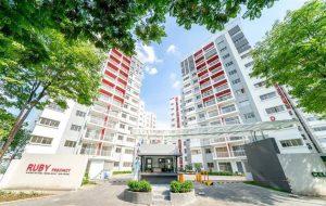 Bán chung cư Ruby Celadon City, diện tích 70m2, 2 phòng ngủ nhận nhà ở ngay, hướng Đông Nam